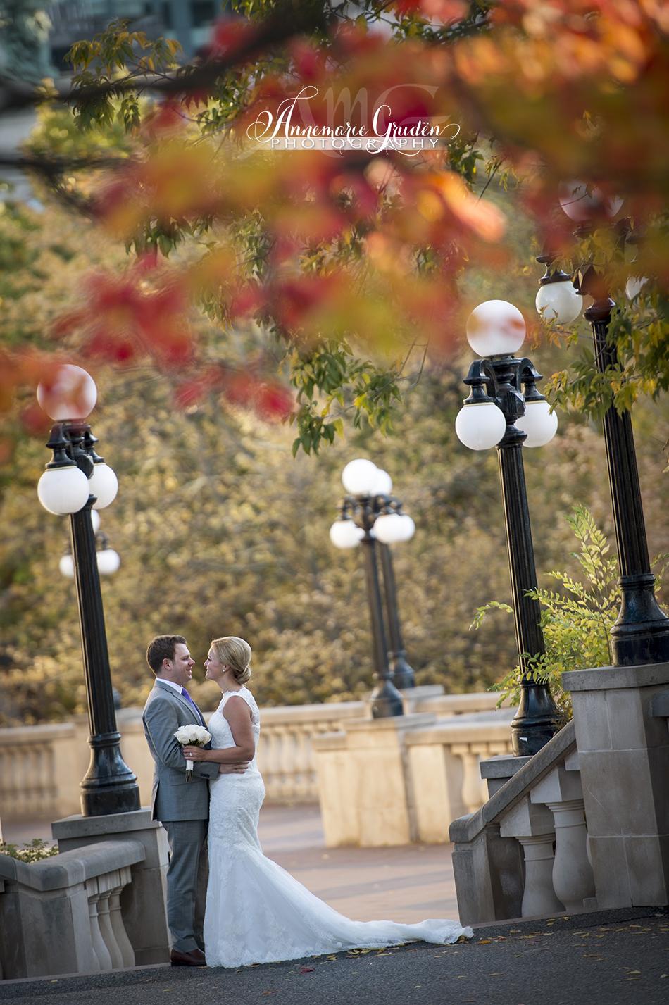 scenic wedding portrait