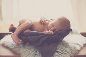 Lifestyle Newborn portrait