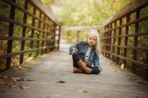 child portrait, fall