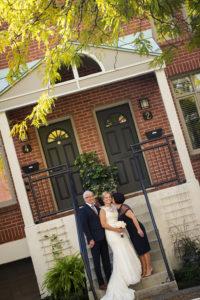 family portrait, wedding