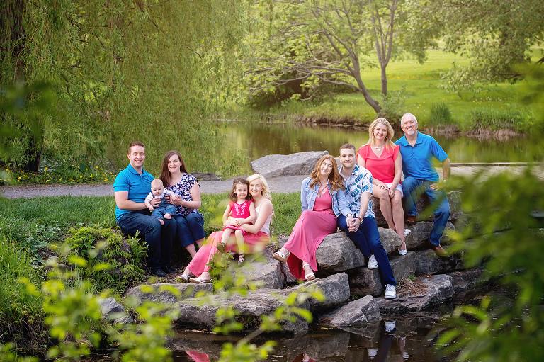 multiple family portrait