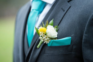 groom detail, boutonniere