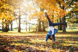 fall photo, cartwheel