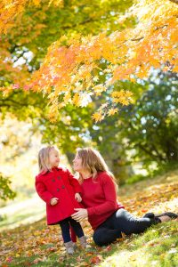 mother daughter fall photo